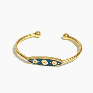 Madewell Daisy Delight Enamel Cuff Bracelet